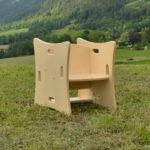 La chaise Montessori pour enfant, dans le Vercors, et qui s'adapte